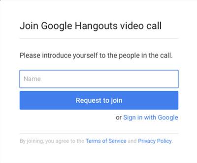 Google Hangouts gast
