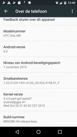 HTC One M8 GPE - Android 6.0 Marhsmallow