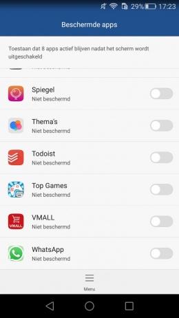 Huawei beschermde applicatie