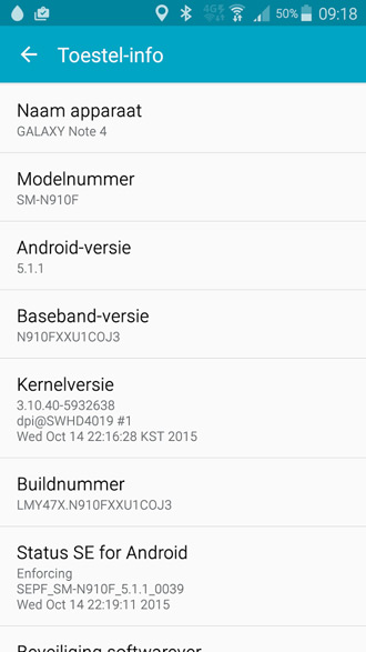 Samsung Galaxy Note 4 N910FXXU1COJ3