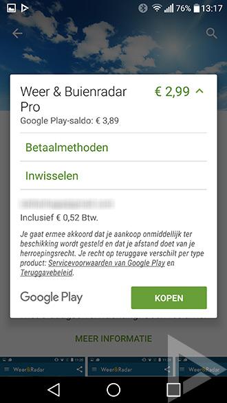 Betalen telefoonrekening Play Store