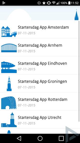 Startersdag app 2015