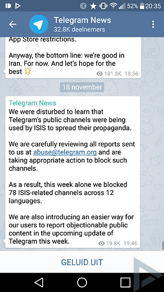 telegram IS