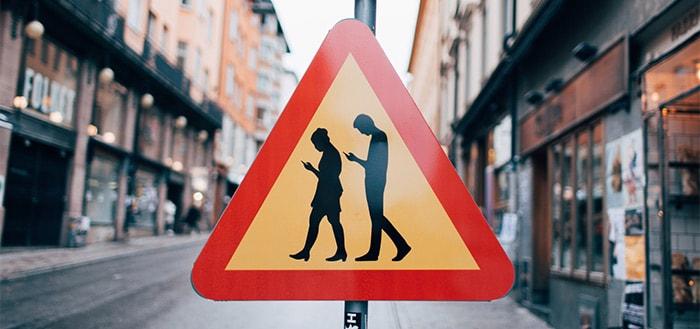 verkeersbord smartphone