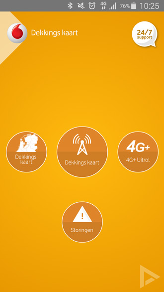 Vodafone dekking storing netwerk app