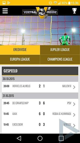 Voetbal Inside app