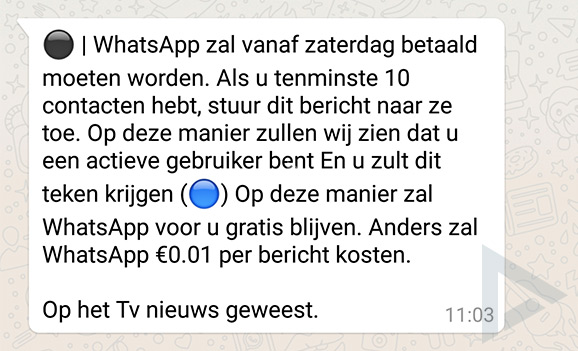 whatsapp oplichting