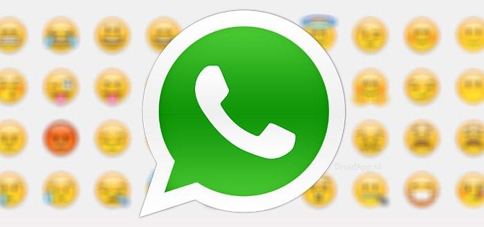 Emoticons uit Unicode 10 in de stijl van WhatsApp getoond