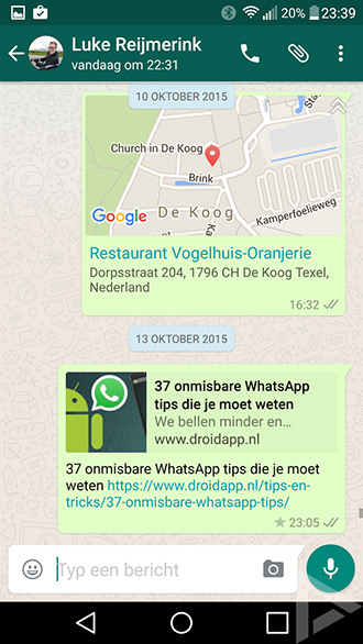 WhatsApp link preview