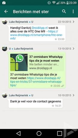 WhatsApp ster