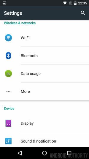Sony Xperia UI Marshmallow