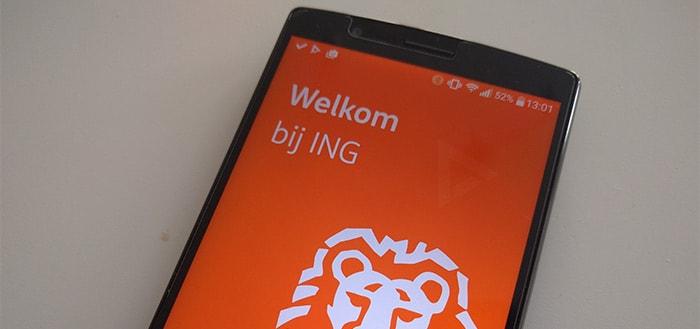 ING Bankieren app update: QR-code vervangt TAN-code voor iDeal