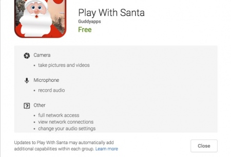 Android malware: Play With Santa