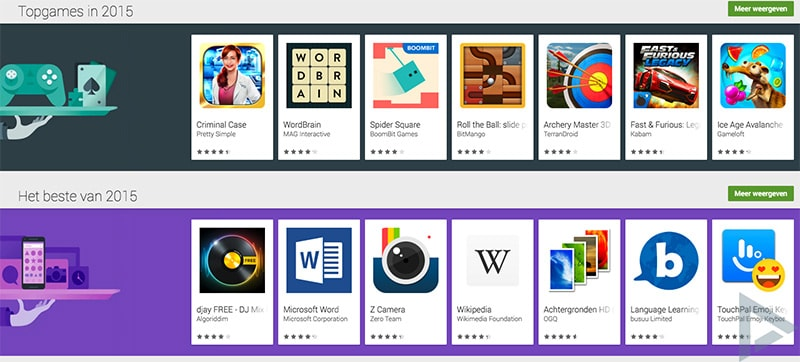 Beste apps games play store 2015