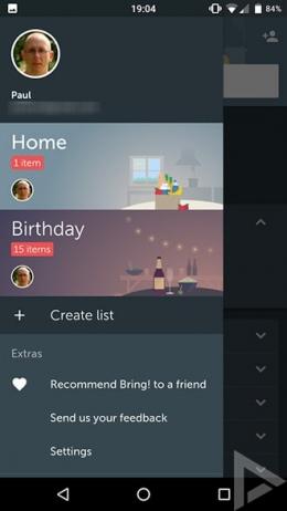 Bring! boodschappen app