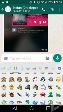 WhatsApp 2.12.373 emoji