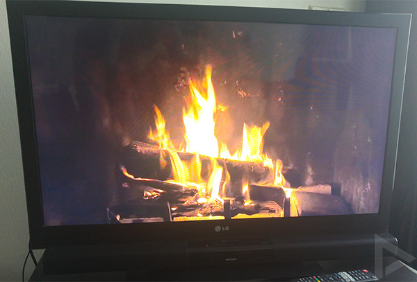 fireplace hd chromecast
