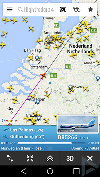 Flightradar24 Chromecast