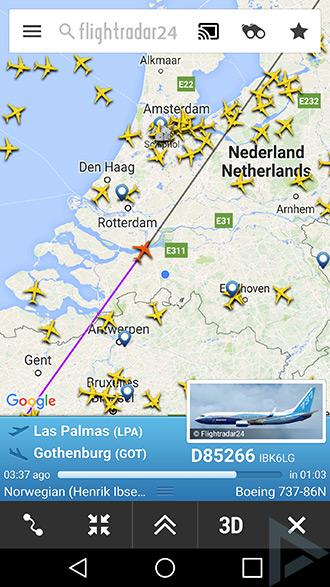 Flightradar24 Chromecast
