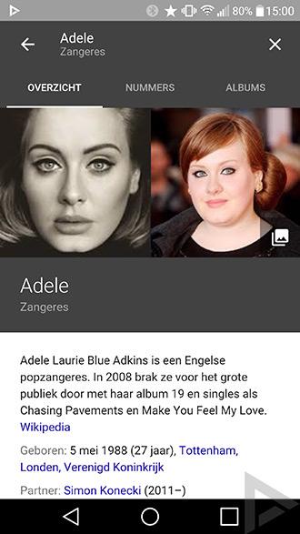 Google zoeken muziek