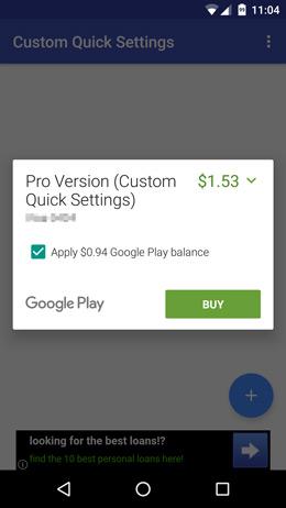 Google Play Store gesplitst betalen