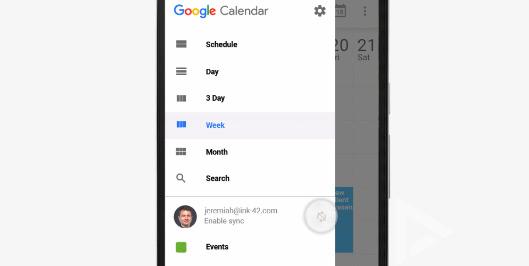 Google Agenda Synchronisatie