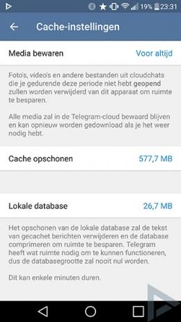 Telegram cache
