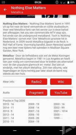 Top 2000 2015 app