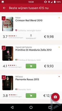 Vivino wijn app