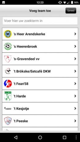 Voetbal.nl app