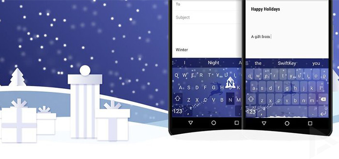 SwiftKey thema's voor de winter gratis, pakket met 77 thema's extra voordelig