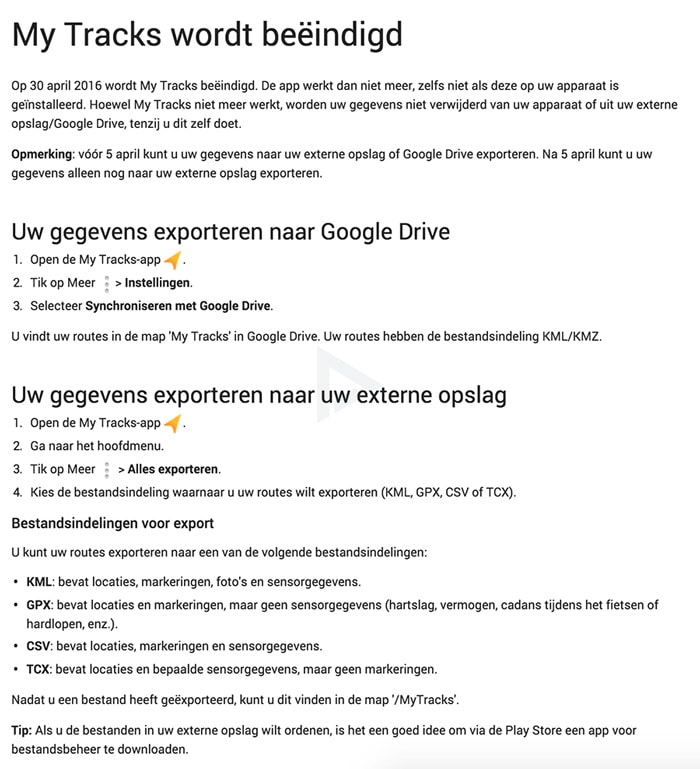 Google My Tracks