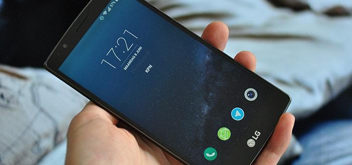 'LG G4 en V10 krijgen geen update naar Android 7.0 Nougat'