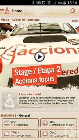 Dakar Rally 2016 app