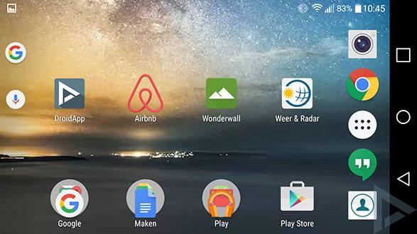 Google Now Launcher landscape