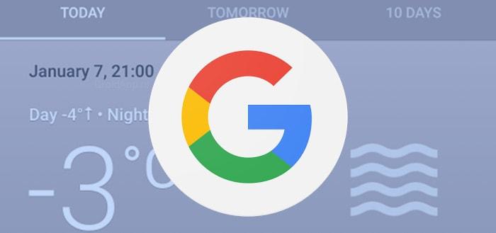 Google begint uitrol nieuwe weerkaarten in Google Now