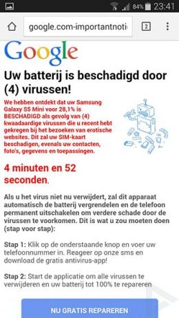 malware batterij beschadigd