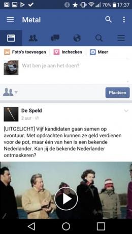 Metal facebook