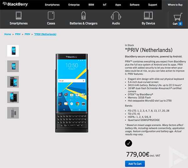 ShopBlackBerry BlackBerry Priv