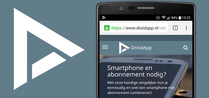 DroidApp lanceert uitgebreide, onafhankelijke abonnementen-vergelijker