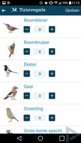 tuinvogeltelling Vogelbescherming app