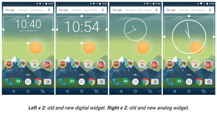 Google Clock 4.3 widget