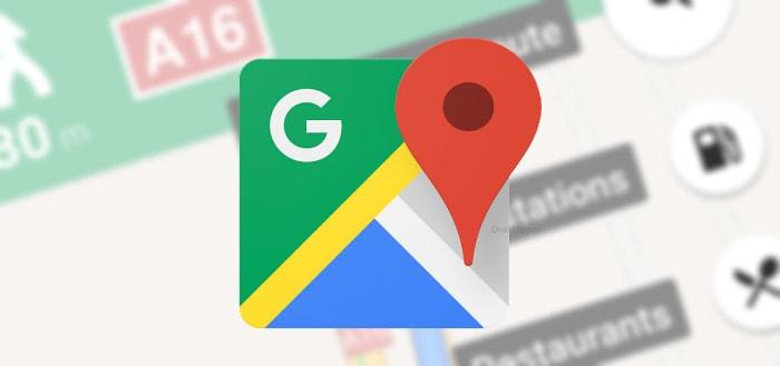 Google Maps begint met tonen maximum snelheid bij verschillende gebruikers