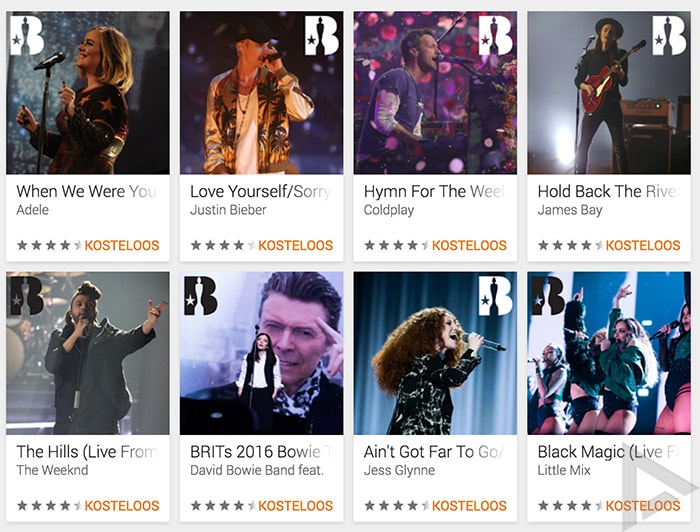 Google Play Music Brit Awards