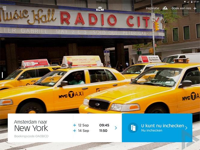 KLM app 7.0 reisinspiratie