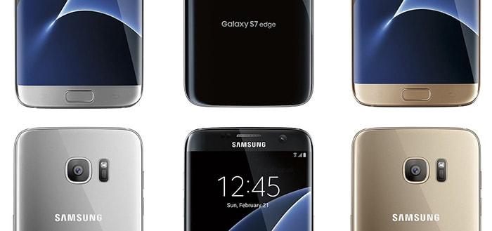 Samsung Galaxy S7 en S7 Edge in alle kleuren te zien op nieuwe foto's