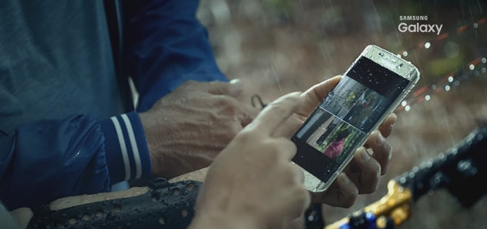 Samsung toont Galaxy S7 Edge in eigen video