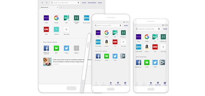 Marshmallow voor Samsung brengt Internet 4.0 browser en Cross App