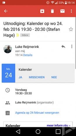 Gmail 6.0 agenda