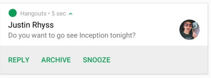 Android N notificatie